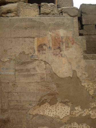 Remains of Roman Paintings in Luxor Temple