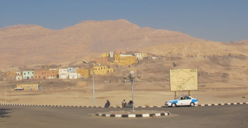 Remaining Houses of Qurnet Murai seen from the Inspectors' Offices at Qurna