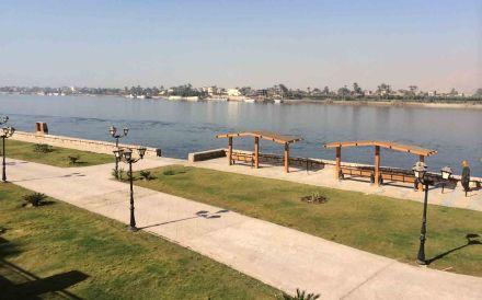 Finished park below the corniche in Luxor