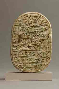Marriage scarab of Amenhotep III. Gift of Helen Miller Gould, 1910 (10.130.1643)