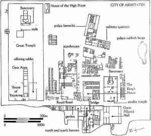 """The """"King's House"""" and Great Palace in the Central City of Amarna."""