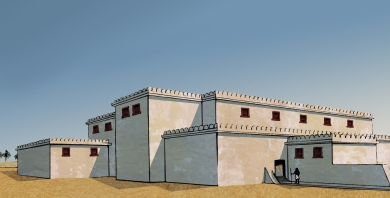 Reconstruction of the North Palace by Fran Weatherhead  and Sebsatian Gat