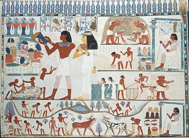 Scene from the tomb of Nakht (TT 52)