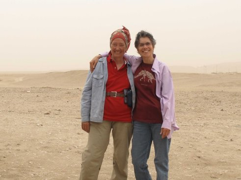 Catharine Roehrig and Diana Craig Patch at Malqaata, 3-3-2014