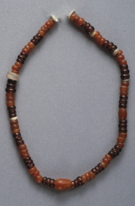 String of beads, including carnelian, from a Predynastic tomb of Abadiya (Gift of Egypt Exploration Fund, 1899 (99.4.4))