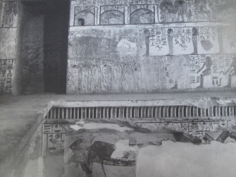 Shelves in the burial chamber of Seti I