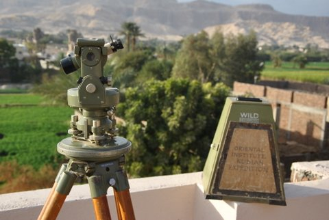 The ancient Chicago House theodolite,
