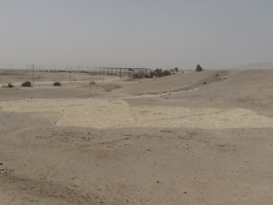 The West Settlement covered with a protective layer of sand.