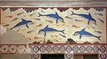 """Dolphin Fresco"" from the Palace of Knossos, Crete; Late Minoan I, ca. 1600-1425 BC."